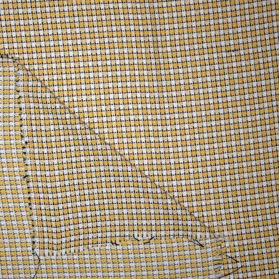 Tessuto bouclè damiè giallo