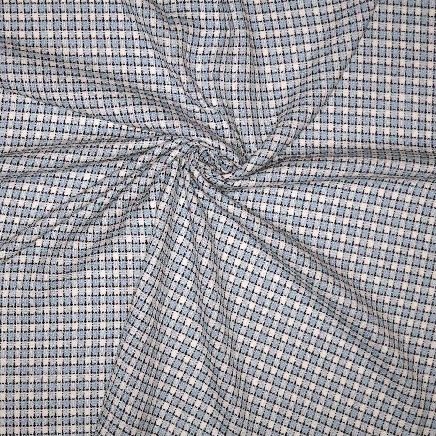 Tweed bouclè – damiè azzurro