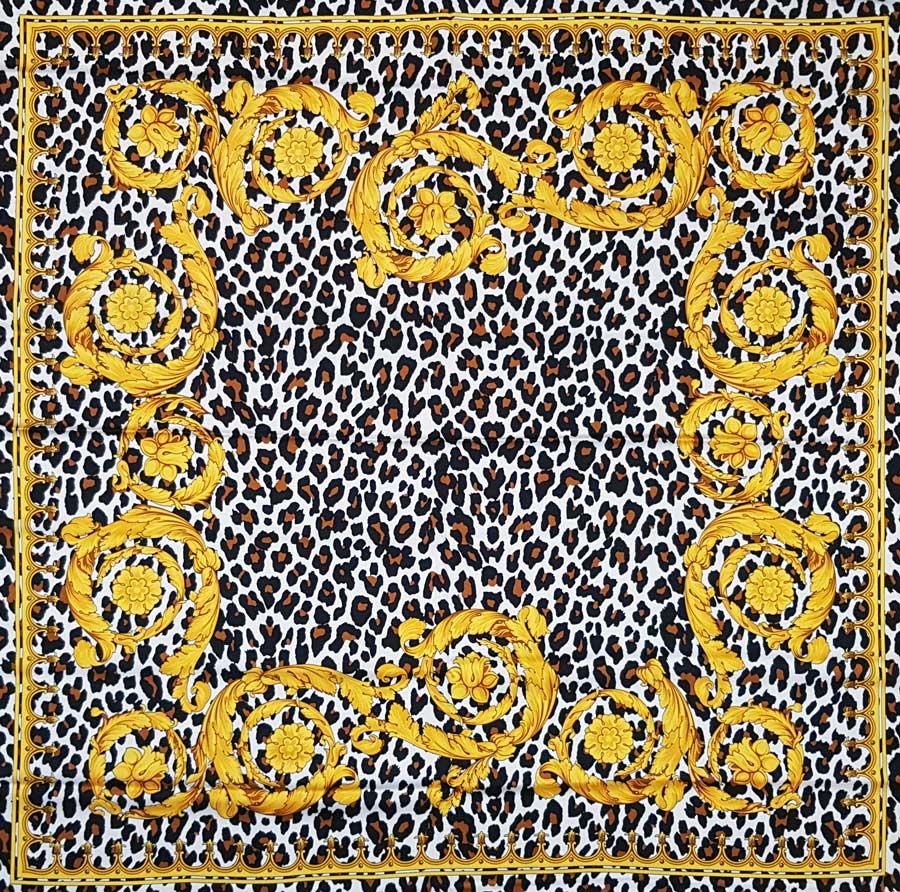 Raso di seta stretch – barocco maculato pannello 130x130cm