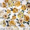 Tessuto tela lino fiori gialli