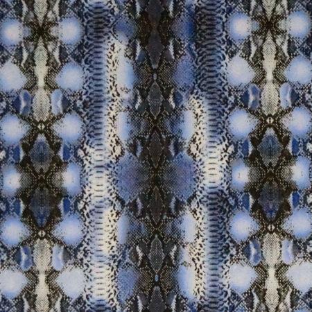 Tessuto cotone stretch stampato disegno pitonato