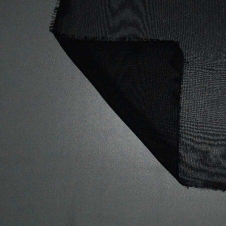 Tessuto tinta unita georgette colore nero