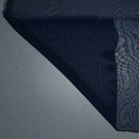 Tessuto tinta unita georgette colore blu notte