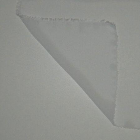 Tessuto tinta unita georgette colore bianco seta
