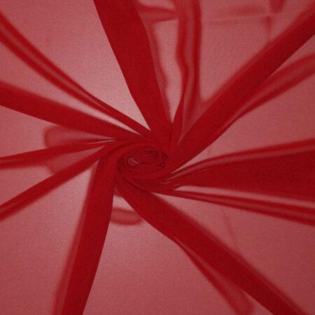 Tessuto tinta unita georgette colore rosso