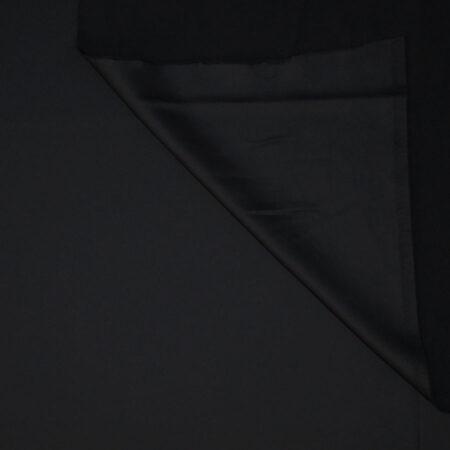 Tessuto tinta unita satin raso stretch colore nero