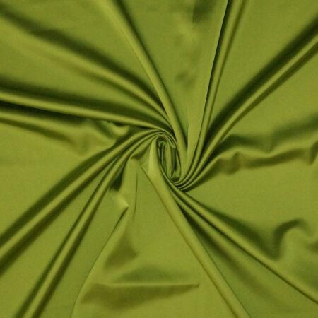 Tessuto tinta unita satin raso stretch colore verde acido
