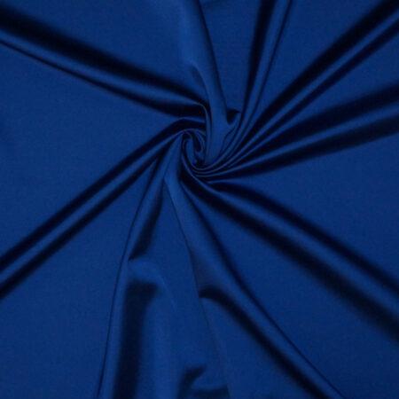 Tessuto tinta unita satin raso stretch colore blu elettrico