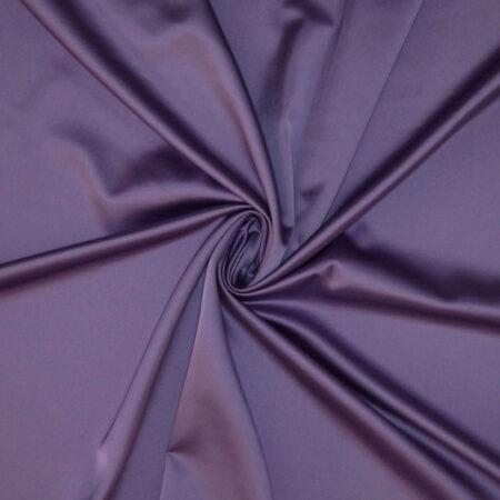 Tessuto tinta unita satin raso stretch colore glicine