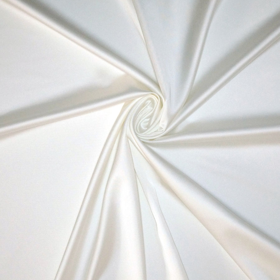 Raso stretch – bianco seta