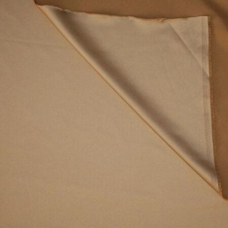 Tessuto tinta unita satin raso stretch colore beige