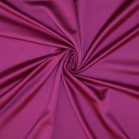 Tessuto tinta unita satin raso stretch colore fuxia