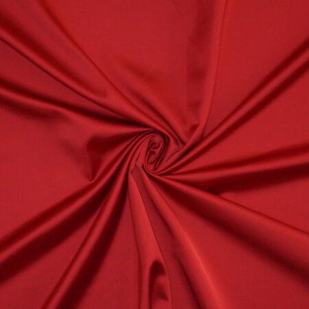 Tessuto tinta unita satin raso stretch colore rosso