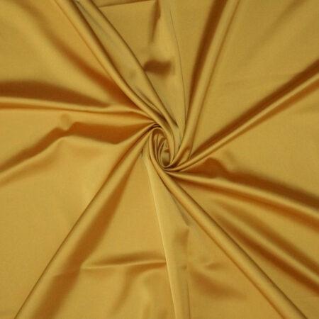 Tessuto tinta unita satin raso stretch colore giallo