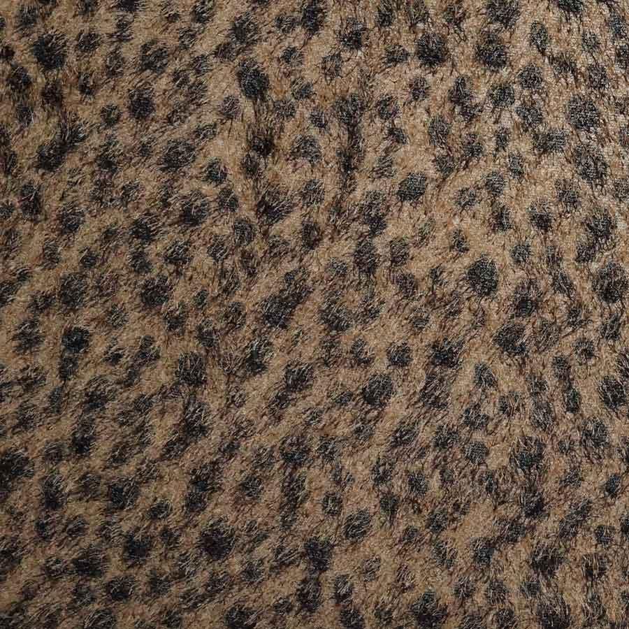 Maglia animalier frange marrone chiaro