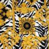 Barocco oro su fondo zebrato