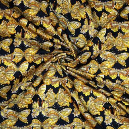 Raso lana seta oro