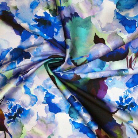 Mikado fiori acquarello blu