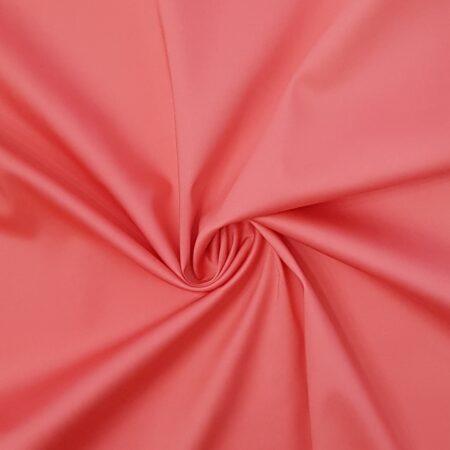 cotone stretch rosso corallo