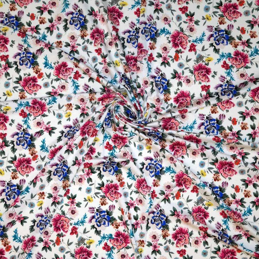 Jersey di viscosa – fiorellini fondo bianco