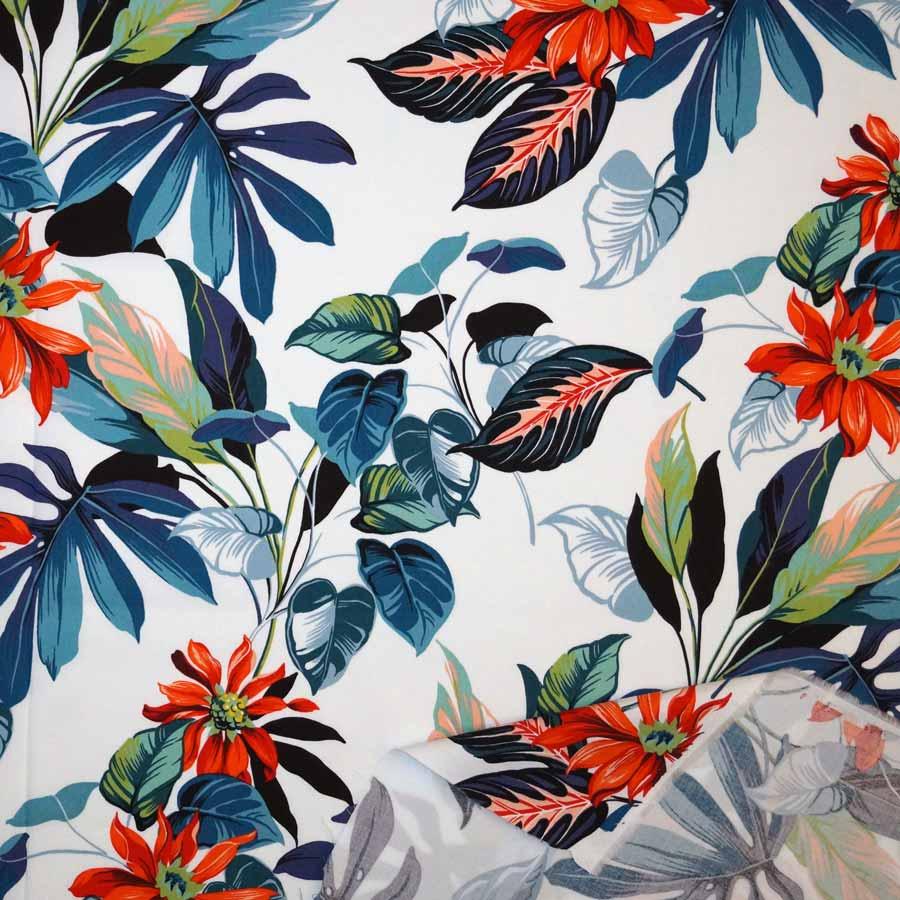Cotone fiori foglie