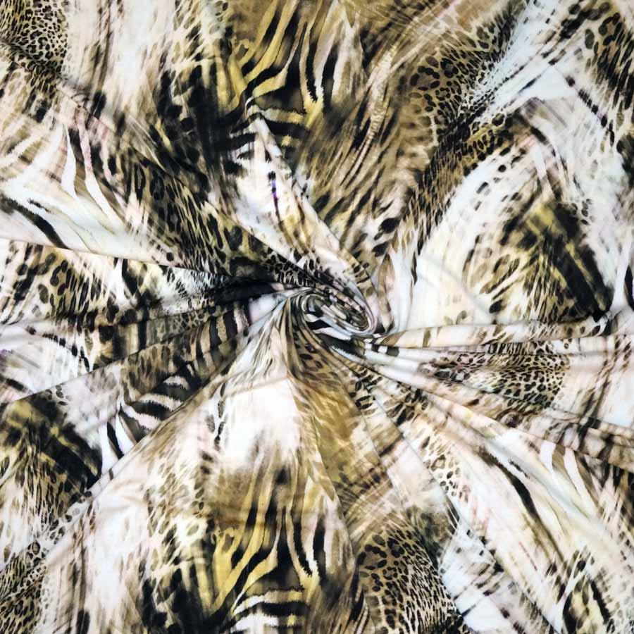 Jersey di viscosa – pennellate animalier