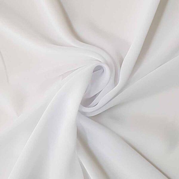 Tessuto tinta unita georgette colore bianco ottico