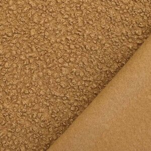 Tessuto bouclè – cammello