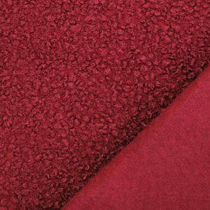 Tessuto bouclè – rosso TAGLIO 1,25 MT
