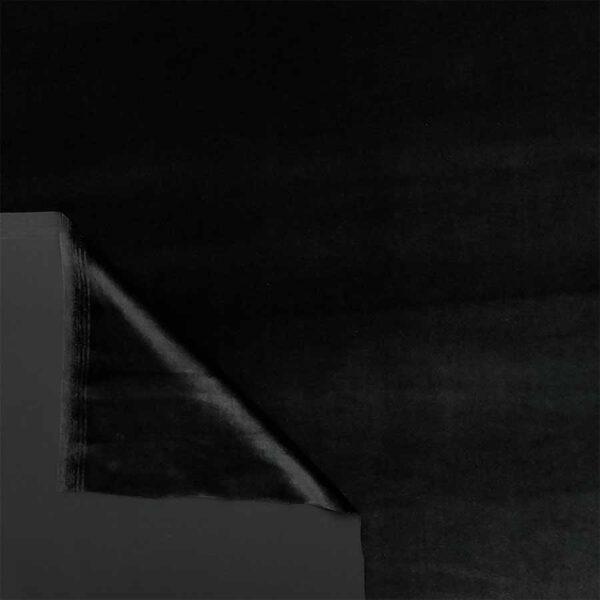 velluto liscio stretch nero