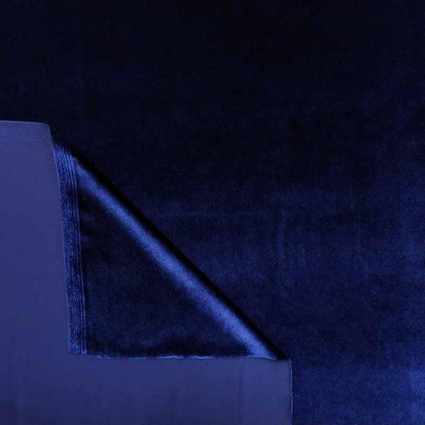 velluto liscio stretch bluette