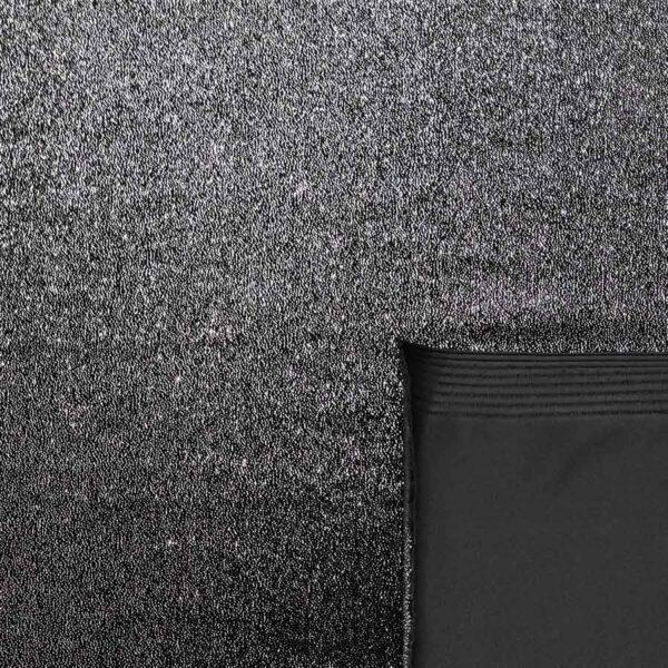 velluto stretch glitter argento