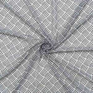 Chiffon geometrico a riga nero su bianco