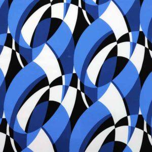 Viscosa stampata astratto toni blu