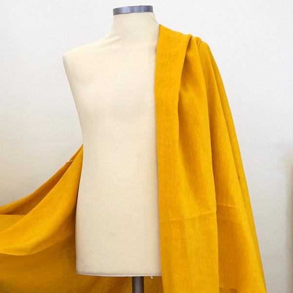 Tela puro lino giallo