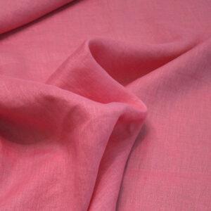 Tela puro lino rosa