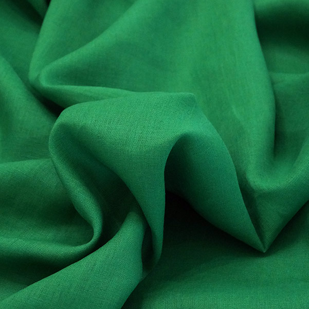 Tela puro lino verde