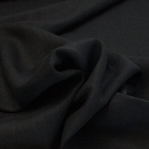Tela puro lino nero