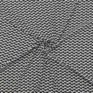 Crepe viscosa geometrico astratto bianco nero