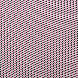Crepe viscosa geometrico magenta nero