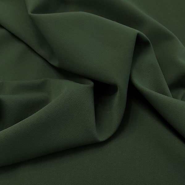 Gabardine mano lana verde oliva