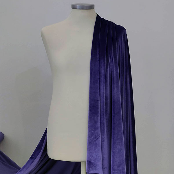 Velluto liscio stretch viola