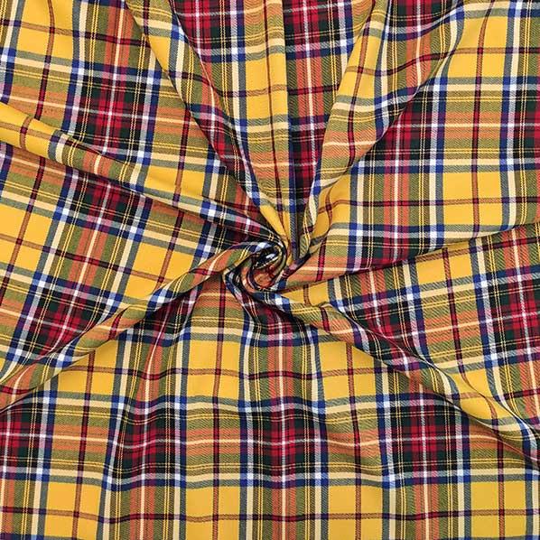 Tartan stretch fondo giallo