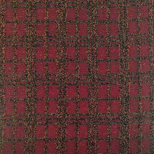 Tessuto misto lana quadro su rosso
