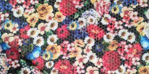paillettes stampate floreale